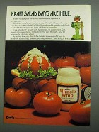 1974 Kraft Miracle Whip Ad - Salad Days are Here