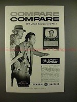 1953 GE Black-Daylight Television TV Ad w/ Ray Milland!