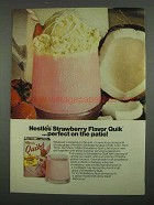 1974 Nestle's Strawberry Flavor Quik Ad - Perfect Patio