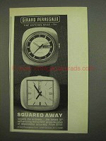1974 Girard Perregaux Squared Away Watch Ad