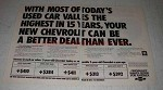 1975 Chevrolet Cars Ad - Today's Used Car Values
