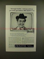 1961 Zenith Television Ad w/ Red Skelton - Tune In!!