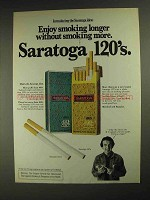 1975 Saratoga 120's Cigarettes Ad - Without Smoking More