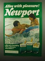 1975 Newport Cigarettes Ad - Alive With Pleasure