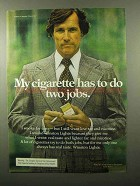 1975 Winston Cigarettes Ad - Has to Do Two Jobs