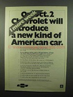1975 Chevrolet Ad - A New Kind of American Car
