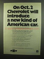 1975 Chevrolet Ad - New Kind of American Car