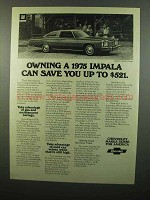 1975 Chevrolet Impala Custom Coupe Ad - Can Save You