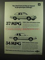 1975 Chevrolet Vega Notachback and Monza Towne Coupe Ad
