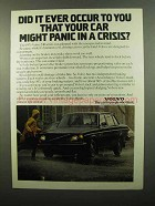1975 Volvo 240 Series Car Ad - Did It Ever Occur