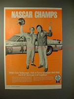 1977 S-K Tools Ad w/ Cale Yarborough & Herb Nab, NASCAR