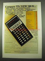 1975 Texas Instruments SR-51 Calculator Ad - Compare