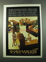 1975 Shaw-Walker Modular Work Stations Ad