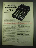 1975 Sinclair Scientific Programmable Calculator Ad