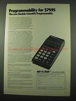 1975 Sinclair Scientific Calculator Ad - Programmability