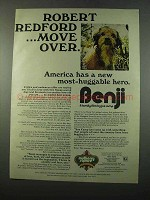 1975 Benji Movie Ad - Robert Redford Move Over