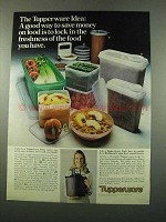 1975 Tupperware Ad - Hamburger Press, Cereal Storer