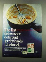 1975 Electrasol Dishwasher Detergent Ad - For Dry-Hards