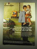 1975 Tide Detergent Ad - Norge Packed Free Coupon
