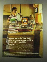 1975 Tide Detergent Ad - Hoover Packed a Free Coupon