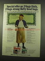 1975 Hefty Food Bags Ad - Special Offer on 2-Bags Thick