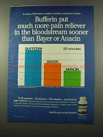 1975 Bufferin Medicine Ad - More Pain Reliever