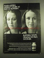 1975 Bufferin Medicine Ad - Plain Aspirin Doesn't Work