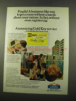 1975 Howard Johnson's Ad - Gold Key Service
