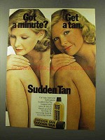 1975 Coppertone Sudden Tan Ad - Got a Minute?