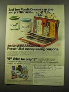 1975 Pond's Cream AD - Give You Prettier Skin