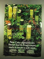 1975 Coty Sweet Earth Fragrances Ad - Soft Mist