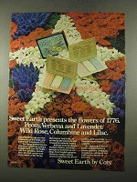 1975 Coty Sweet Earth Cream-Perfume Compacts Ad