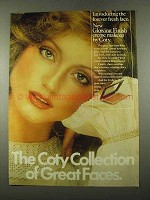 1975 Coty Glowing Finish Crme Makeup Ad - Great Faces