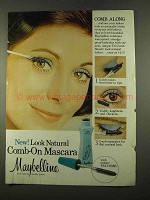 1975 Maybelline Look Natural Comb-On Mascara Ad
