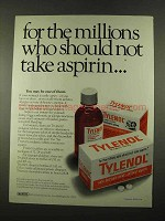 1975 Tylenol Medicine Ad - Millions Should Not Take