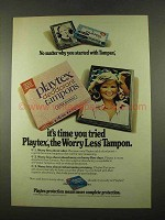 1975 Playtex Tampons Ad - No Matter Why You Started