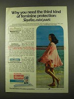 1975 Stayfree Mini-pads Ad - Third Kind of Protection