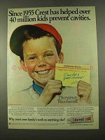 1975 Crest Toothpaste Ad - Art by Norman Rockwell