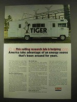 1975 Exxon Oil Ad - Rolling Research Lab