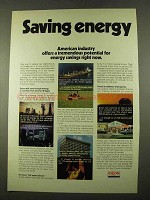 1975 Exxon Oil Ad - Saving Energy