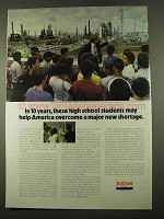 1975 Exxon Oil Ad - High School Students May Help