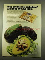 1975 Blue Diamond Almonds Ad - Avocado-Chicken Salad