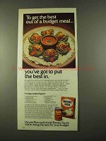 1975 Minute Rice and Hunt's Tomato Sauce Ad