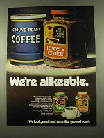 1975 Taster's Choice Coffee Ad - We're Alikeable