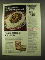 1975 Minute Rice, Birds Eye International Vegetables Ad