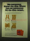 1975 No Nonsense Sheer-to-the-Waist Panty Hose Ad