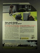 1975 Caterpillar Tractor Co. Ad - Pay to Get Rid Of It?