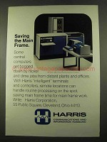 1975 Harris COPE 1600 Communications Processor Ad