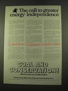 1975 American Electric Power Company Ad - Independence