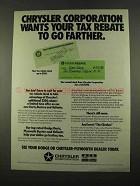 1975 Chrysler Corporation Ad - Your Tax Rebate